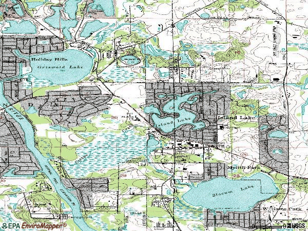 Zip code 60042 topographic map