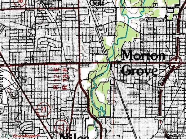 Zip code 60053 topographic map