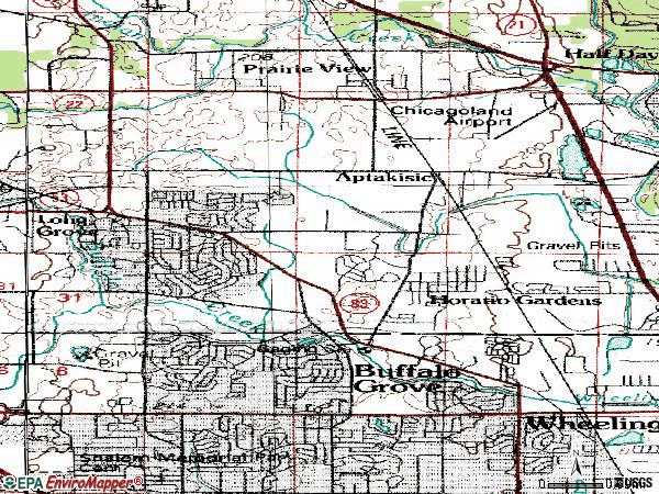 Zip code 60089 topographic map