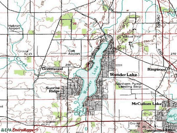 Zip code 60097 topographic map