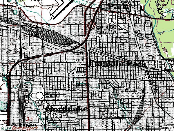 Zip code 60131 topographic map