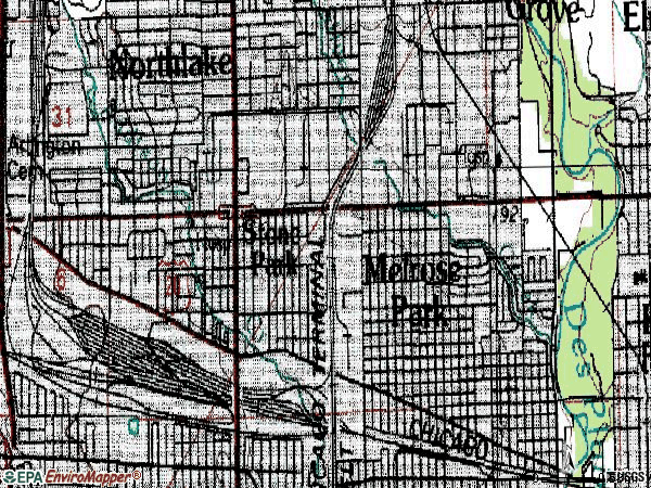 Zip code 60160 topographic map