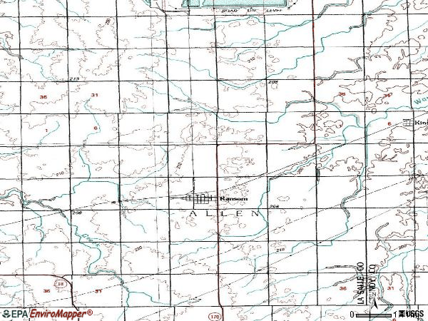 Zip code 60470 topographic map
