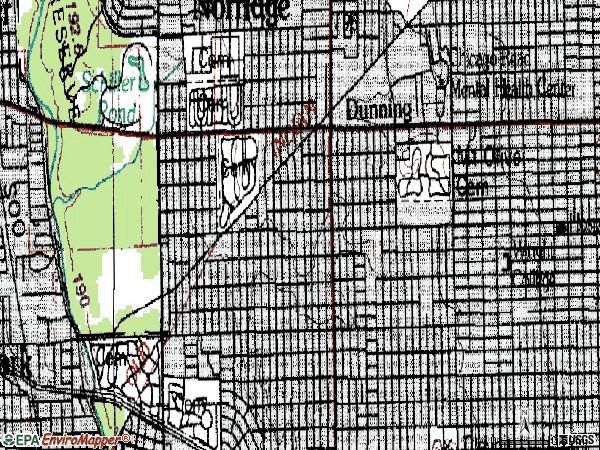 Zip code 60634 topographic map