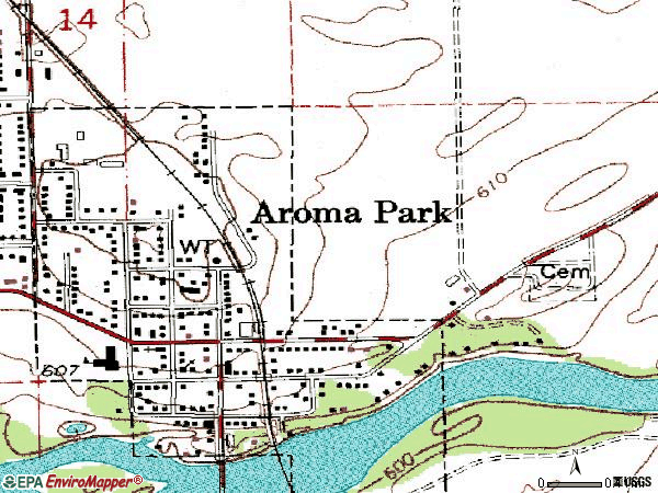 Zip code 60910 topographic map