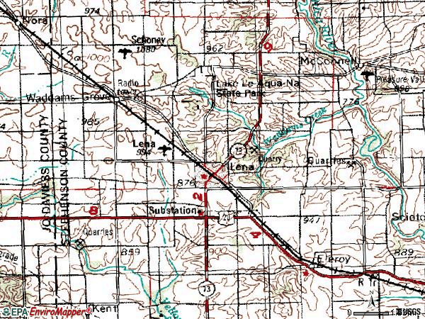 Zip code 61048 topographic map