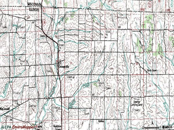 Zip code 61060 topographic map