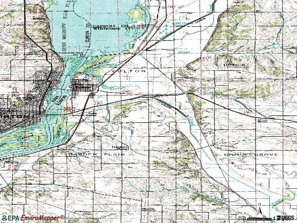 Zip code 61252 topographic map