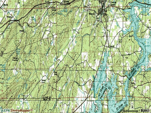 Zip code 35128 topographic map