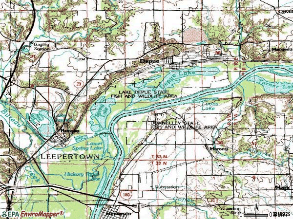 Zip code 61322 topographic map