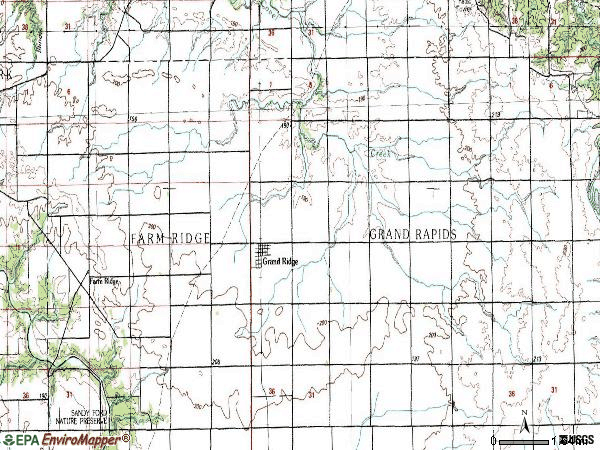 Zip code 61325 topographic map