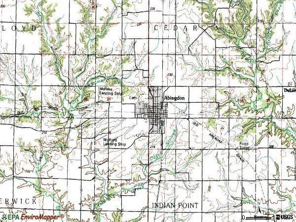 Zip code 61410 topographic map
