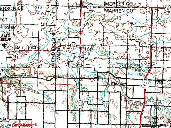 Zip code 61453 topographic map