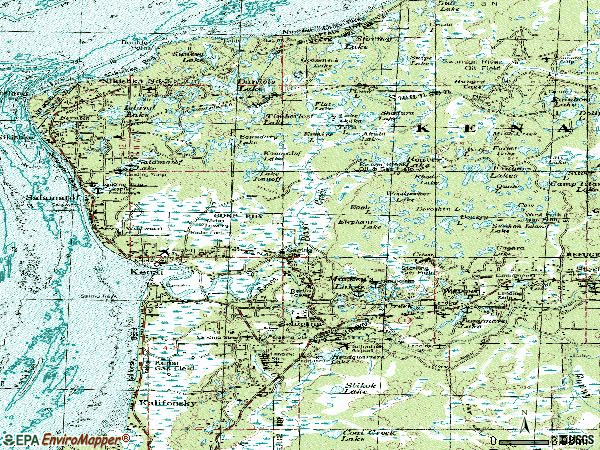 Zip code 99611 topographic map