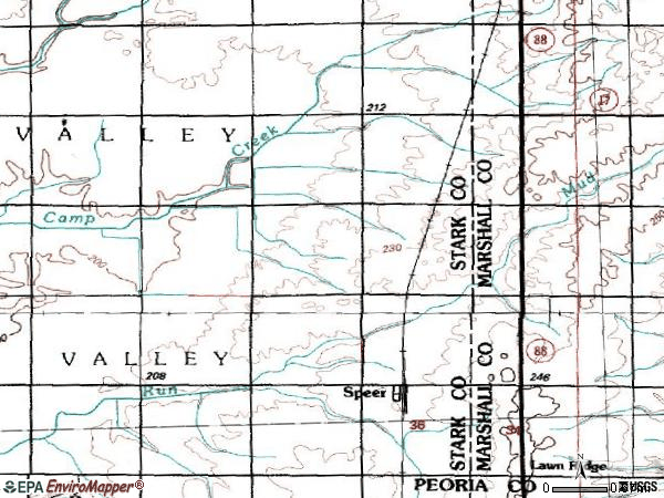Zip code 61479 topographic map