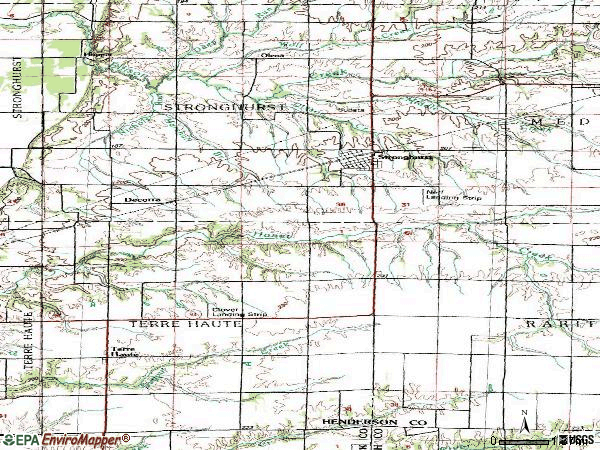 Zip code 61480 topographic map