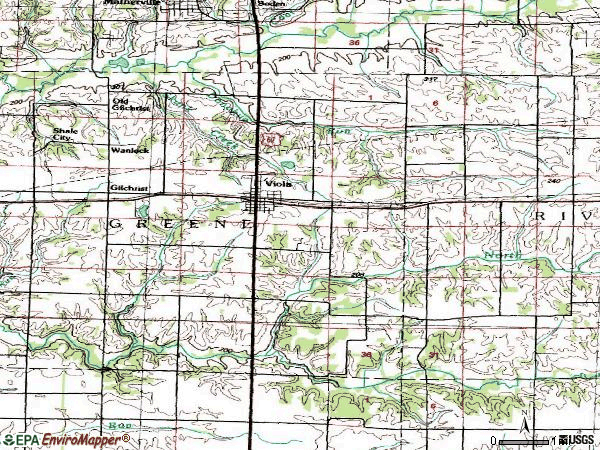 Zip code 61486 topographic map