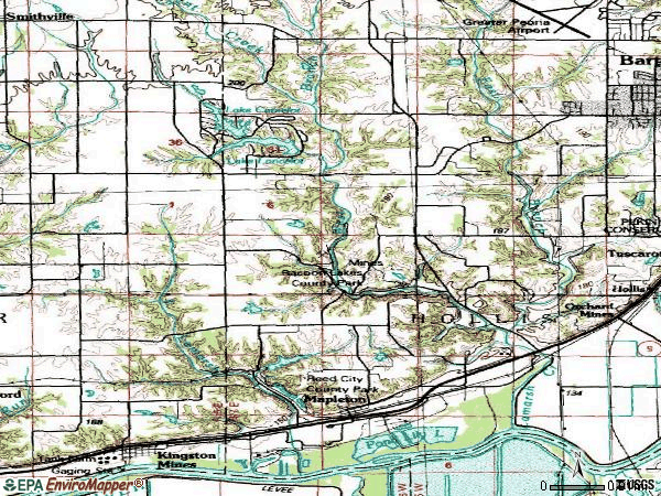 Zip code 61547 topographic map