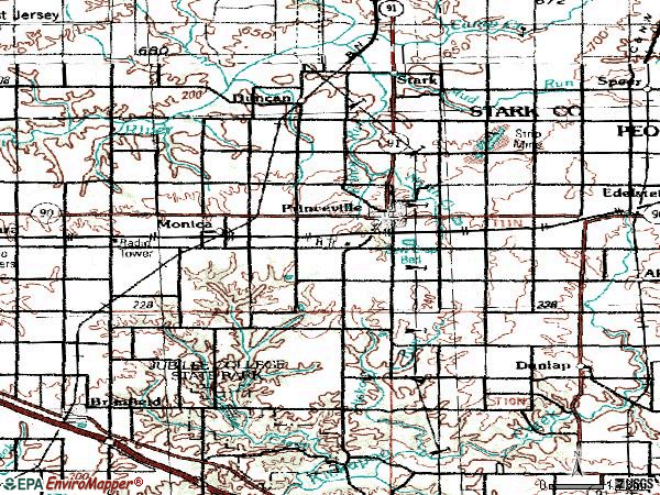 Zip code 61559 topographic map