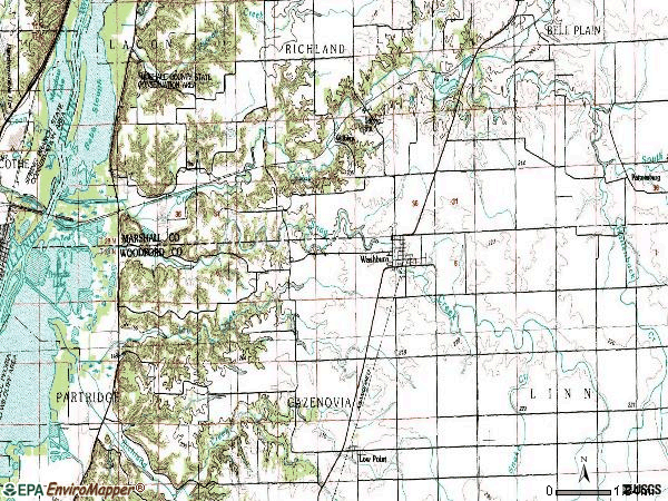 Zip code 61570 topographic map