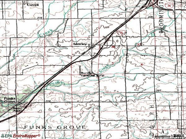 Zip code 61772 topographic map