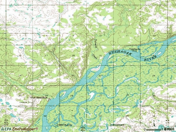 Zip code 99636 topographic map