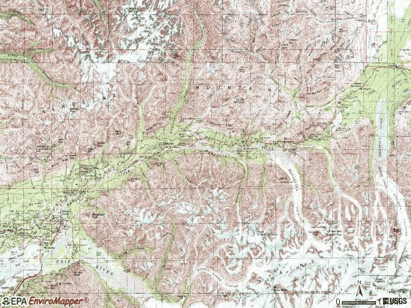 Zip code 99645 topographic map