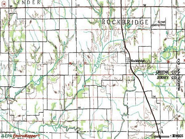 Zip code 62081 topographic map