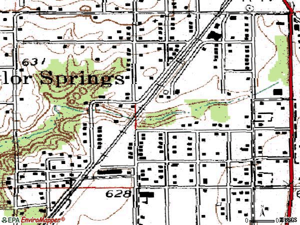 Zip code 62090 topographic map