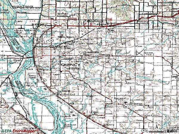 Zip code 62301 topographic map