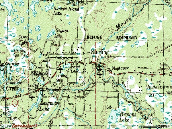Zip code 99672 topographic map