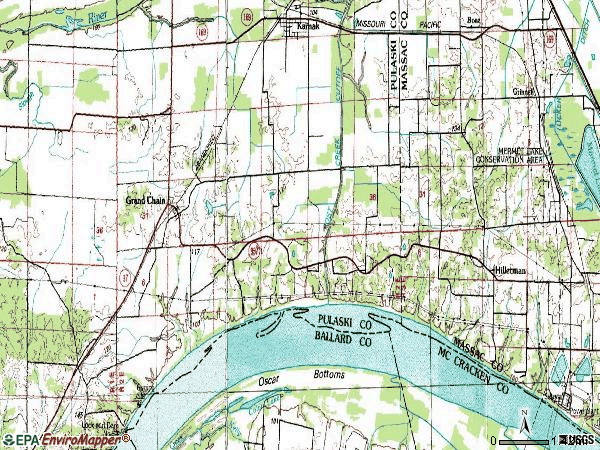 Zip code 62941 topographic map