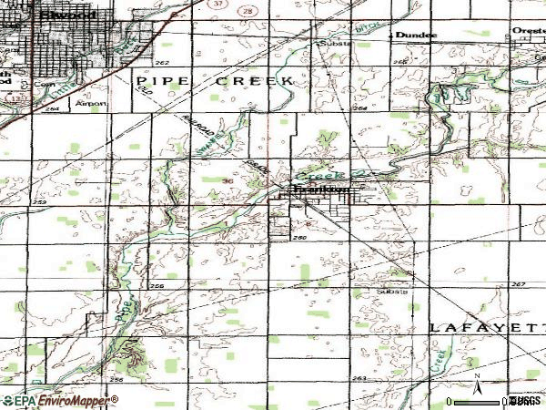 Zip code 46044 topographic map