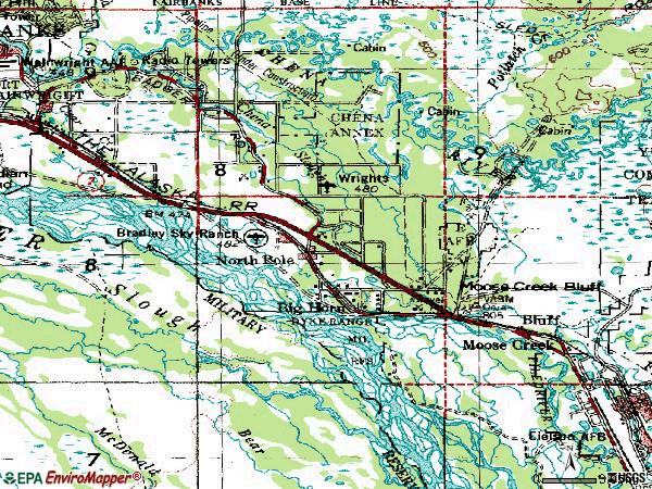 Zip code 99705 topographic map