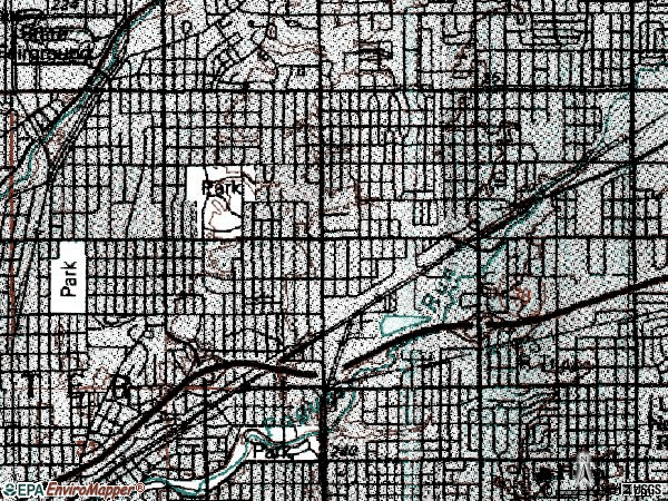 Zip code 46218 topographic map
