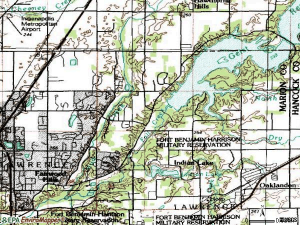 Zip code 46256 topographic map