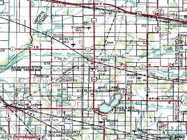 Zip code 46534 topographic map