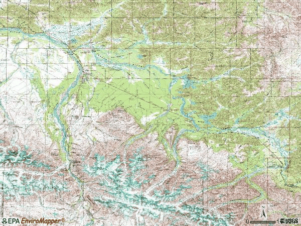Zip code 99737 topographic map