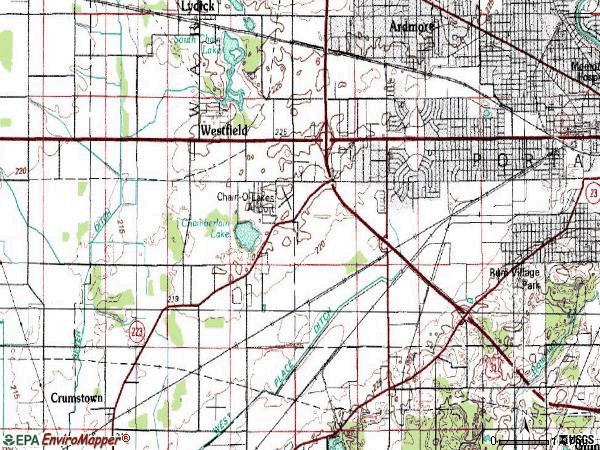 Zip code 46619 topographic map