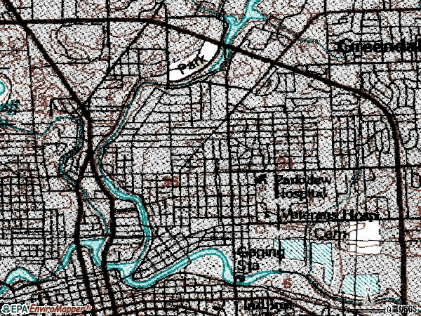Zip code 46805 topographic map