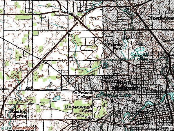 Zip code 46808 topographic map
