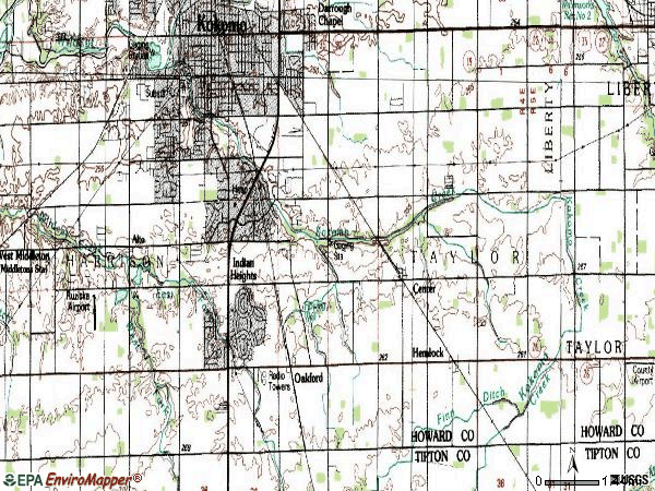 Zip code 46902 topographic map