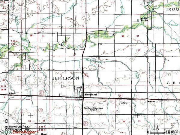 Zip code 47951 topographic map