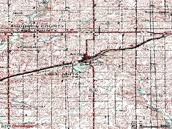 Zip code 50020 topographic map
