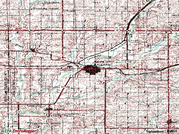 Zip code 50022 topographic map