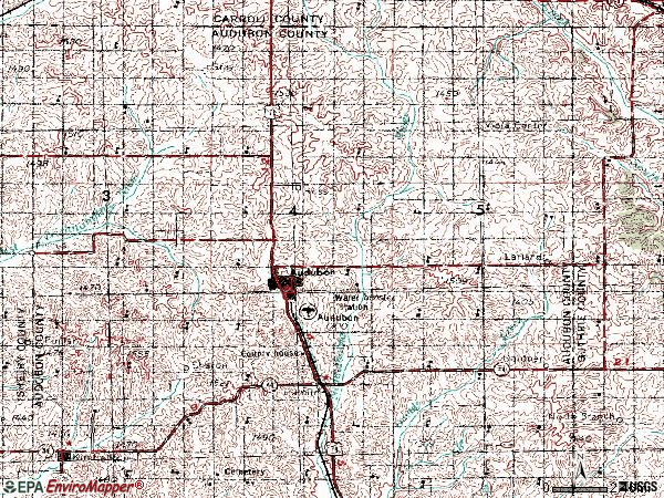 Zip code 50025 topographic map