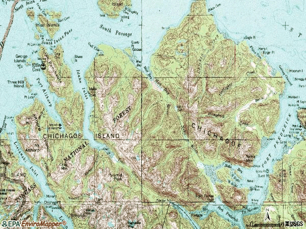 Zip code 99825 topographic map