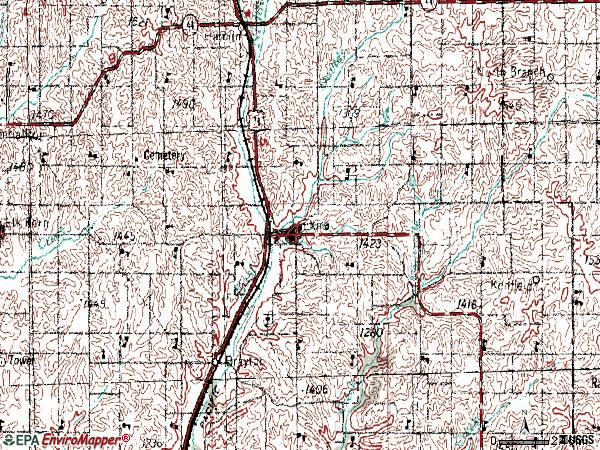 Zip code 50076 topographic map