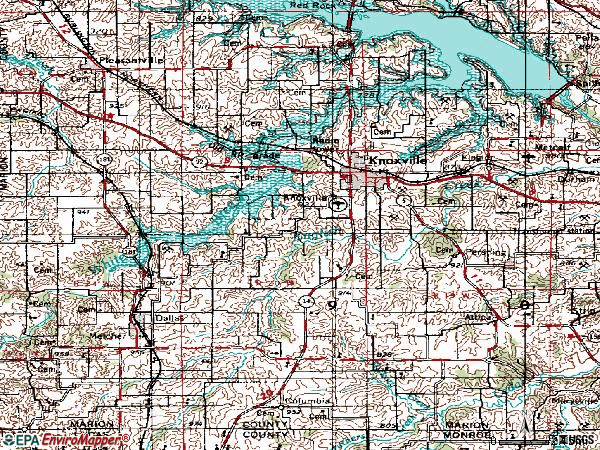 Zip code 50138 topographic map