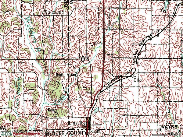 Zip code 50147 topographic map